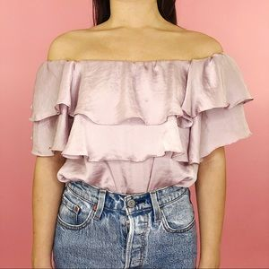 Silky Off The Shoulder Blouse